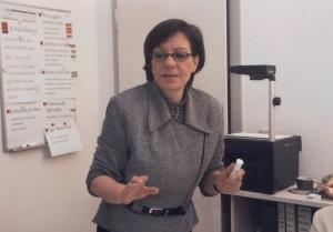 Redetrainerin Pia Passoter im Seminar in Aktion