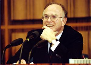 Staatssekretär und Regierungssprecher a.D. Herbert Schmülling in der Bundespressekonferenz