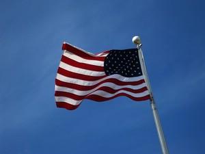 US-Flagge am Fahnenmast