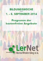 Cover der Broschüre zur LerNet-Bildungswoche 2014