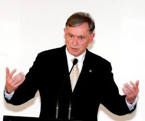Bundespräsident Horst Köhler am Rednerpult